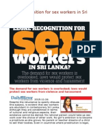 Legal Recognition for Sex Workers in Sri Lanka