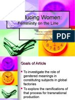 Producing Women Femininity on the Line