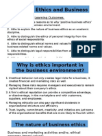 Topic 1 - Ethics and Business