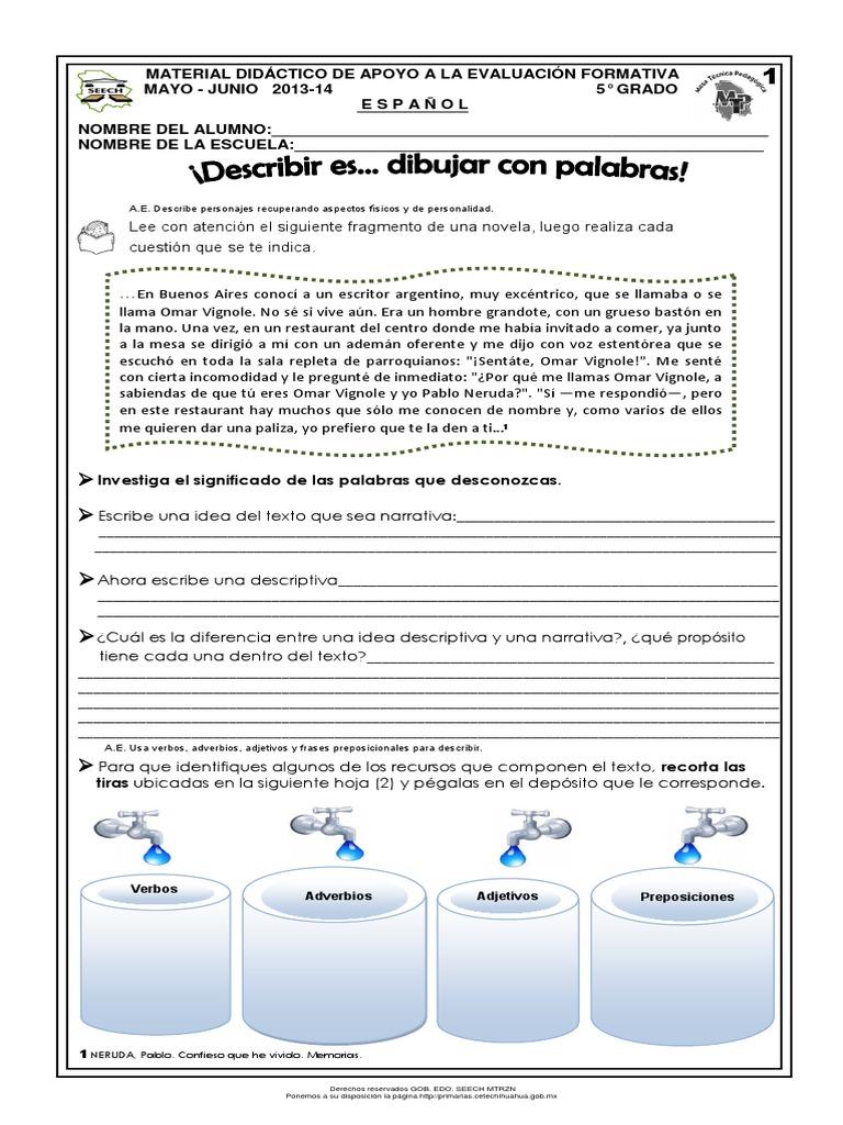 Lujo Personalidad Adjetivos Hojas De Trabajo Componente - hojas de ...