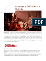 The Regime Change in Sri Lanka – a Caesarian Analogy