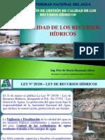5 Ing. Flor de Maria Huamani Calidad de Los Recursos Hídricos
