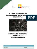 Plan de Reducción de Riesgos Latinoamericano 2015