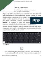 """¡Una Guía Para Aprender a Usar Las Teclas """"F""""! _ Informática - Todo-Mail"""
