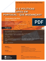 CARTAZ-PROGRAMACurrculo e Polticas Curriculares Em Portugal