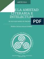 Maria Cecilia Salas Guerra - Sobre La Amistad Literaria e Intelectul de Dos Que Nuna Se Encontraron
