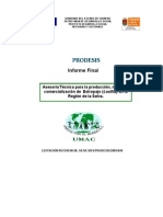 Asesoria Tecnica Para La Produccion y Comercializacion de Estropajo
