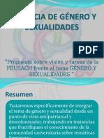 """Propuestas sobre visión y tareas de la FEUSACH frente al tema """"Género y Sexualidades"""""""