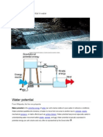 Example of Energy Potential in Water REPORT