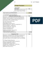 258 budget  version 1  sheet1