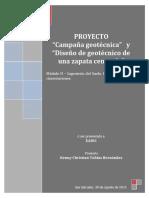 Campaña geotécnica y diseño de zapata aislada.