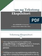 4 - Tekstong Ekspositori
