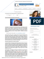 Indicadores de Desempenho Organizacional _ Portal Administração