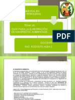 TEMA VII Manifiesto