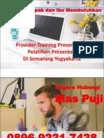 Provider Training Presentation Pelatihan Presentasi Di Semarang Yogyakarta