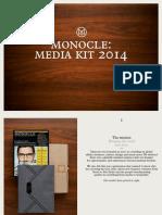 Monocle Media Kit 2014 Eur