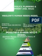 Tourism Theory - Maslow
