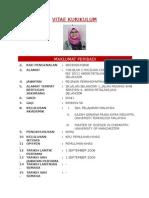 Curriculum Vitae Untuk Fail PPB Guru