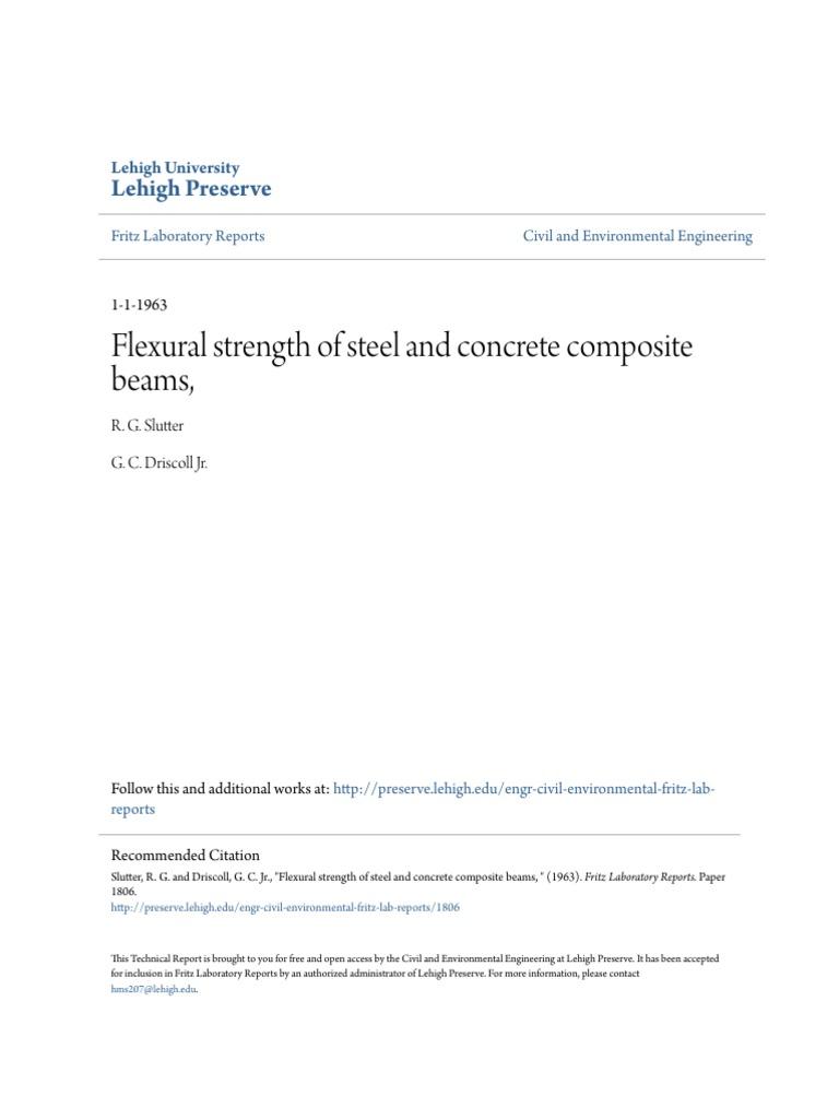 Compostie Beams | Ultimate Tensile Strength | Strength Of