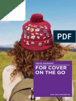 BUP15222 Travel Insurance Brochure