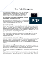 10 Principles of Good Project Management