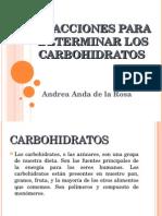 Reacciones Para Determinar Los Carbohidratos