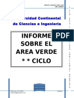 Informe Areas Verdes