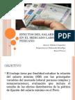 Efectos Del Sm en El Mercado Laboral Peruano