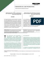 Concepto y Dimensiones Del Clima Organizaiconal CARAVEO