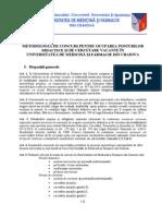 Metodologie Concurs UMF Craiova Octombrie 2014