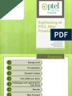 Rightsizing at PTCL - Final Version