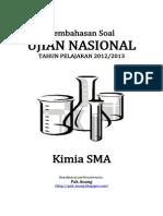 Pembahasan Soal UN Kimia SMA 2013