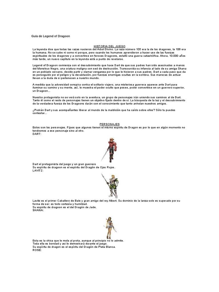 Guía de Legend of Dragoon