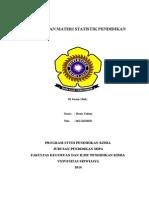 Ringkasan Materi Statistik Pendidikan (Hesty Yulisty 06121010031)