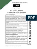 F1 November 2014 Question Paper