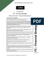 F3 November 2014 Question Paper