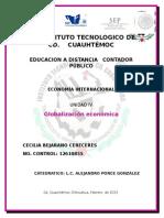 Eco.intern,Unidad IV Globalizacion Economica