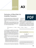 Appendix A3 Derivation of Blend Rule for Solubility Parameters 2014 Cleaning With Solvents