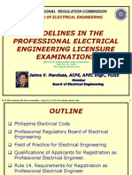 Guidelines in the Professional Electrical Engineer Licensure Examinations (1)
