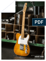 2015 Fender Custom Shop Order Form (Rev II)
