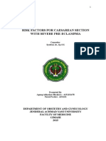 Risk Factors for Caesarean Section With Severe Pre Eclampsia