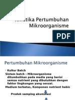 Kinetika Pertumbuhan Mikroorganisme