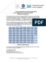 Resultados Convocatoria Becas CONACYT-DAAD 2014