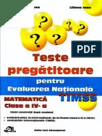 Evaluarea Nationala Matematica TIMSS Clasa a IV A