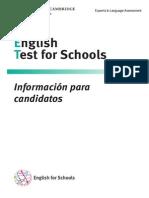 Información Para Candidatos - Ket for Schools