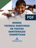 14. Reglamento Sobre Pastas Dentifricas Cosméticas