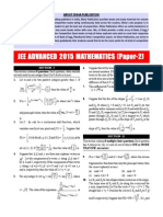 JEE - Advance Mathematics 2015 Paper 2