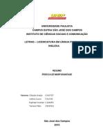 Resumo - Prática de Morfossintaxe - PDF