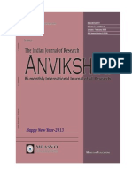 Physico-Chemical Investigation on the Pollution Potential of River Ganga Water at Mirzapur, Uttar Pradesh (India)-(Anvikshikijournal.com)