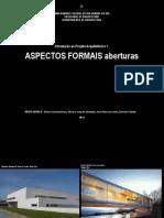 ASPECTOS FORMAIS aberturas